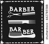 frame vector  hairdressing... | Shutterstock .eps vector #662785588