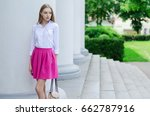 outdoor summer portrait of a... | Shutterstock . vector #662787916