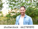 portrait of a casual men with... | Shutterstock . vector #662789890