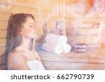 sauna. | Shutterstock . vector #662790739