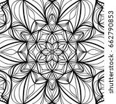 oriental floral pattern. vector ... | Shutterstock .eps vector #662790853