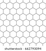 honeycomb wallpaper. repeated... | Shutterstock .eps vector #662793094