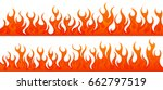 fire flames vector set   Shutterstock .eps vector #662797519