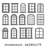 window icon set  vector symbol... | Shutterstock .eps vector #662801179