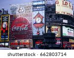 piccadilly circus london  ... | Shutterstock . vector #662803714
