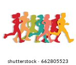 sport running people cutout... | Shutterstock .eps vector #662805523