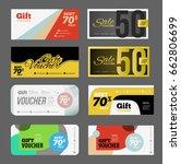 gift voucher certificate coupon ...   Shutterstock .eps vector #662806699