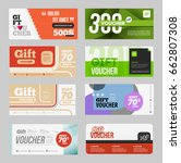 big voucher discount template... | Shutterstock .eps vector #662807308
