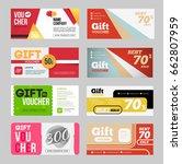 gift voucher certificate coupon ... | Shutterstock .eps vector #662807959