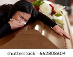 people and mourning concept  ... | Shutterstock . vector #662808604