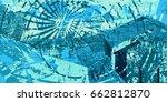 blue artistic neo grunge style...