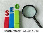 seo search engine optimization... | Shutterstock . vector #662815843