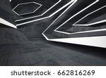 empty dark abstract concrete... | Shutterstock . vector #662816269