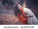 winter portrait of young girl... | Shutterstock . vector #662820130