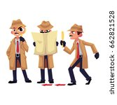 detective character with... | Shutterstock .eps vector #662821528
