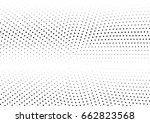 abstract halftone dotted... | Shutterstock .eps vector #662823568