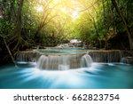huay mae kamin waterfall ... | Shutterstock . vector #662823754