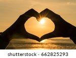 Hand Heart Frame Shape...