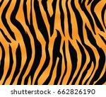 tiger pattern  print  stripes ... | Shutterstock .eps vector #662826190