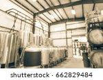 blurred image modern beer plant ...