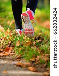 beautiful woman running over... | Shutterstock . vector #662832424