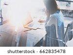 businesswoman working process... | Shutterstock . vector #662835478