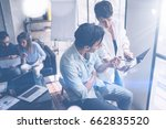 coworking team meeting.group of ... | Shutterstock . vector #662835520