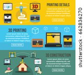 3d printing banner horizontal... | Shutterstock . vector #662836270