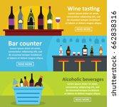 wine tasting bar banner... | Shutterstock . vector #662838316