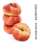 group of chinese flat peaches... | Shutterstock . vector #662841403