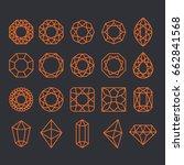 diamond shapes set. vector... | Shutterstock .eps vector #662841568