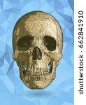 stylized skull drawing... | Shutterstock .eps vector #662841910