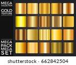 vector set of gold gradients ... | Shutterstock .eps vector #662842504