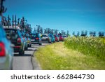 cycling service cars in convoy... | Shutterstock . vector #662844730