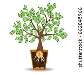 money tree growing from a coin... | Shutterstock .eps vector #662845966