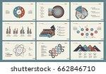 six slide templates set | Shutterstock .eps vector #662846710
