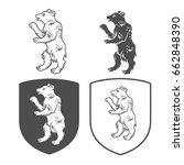 vector heraldic shields with... | Shutterstock .eps vector #662848390