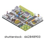 modern isometric big industrial ... | Shutterstock .eps vector #662848903