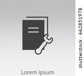 document settings icon. vector...