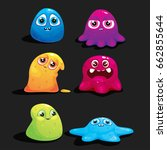 a set of vector jelly monsters...