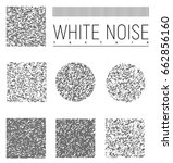 no signal tv textures set ... | Shutterstock .eps vector #662856160