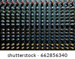 old music mixer dirty and... | Shutterstock . vector #662856340