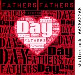 fathers day words with heart... | Shutterstock . vector #662862268
