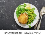easy healthy lunch  chicken... | Shutterstock . vector #662867440