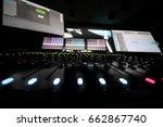 recording studio with equipment ... | Shutterstock . vector #662867740