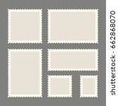 postage stamps template. blank... | Shutterstock .eps vector #662868070