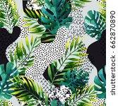 abstract summer geometric... | Shutterstock . vector #662870890