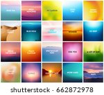 big set of 20 square blurred... | Shutterstock .eps vector #662872978