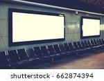 blank empty digital billboard... | Shutterstock . vector #662874394