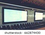 blank empty digital billboard... | Shutterstock . vector #662874430